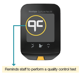 FreeStyle Optium Neo H - quality control test