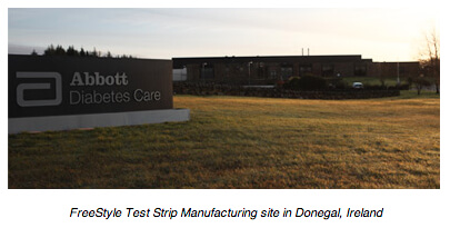 FreeStyle Test Strip Manufacturing site in Donegal, Ireland